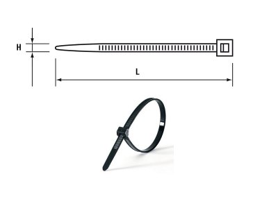 CABLE TIE 200 X 4.8MM (PKT 100) BLACK